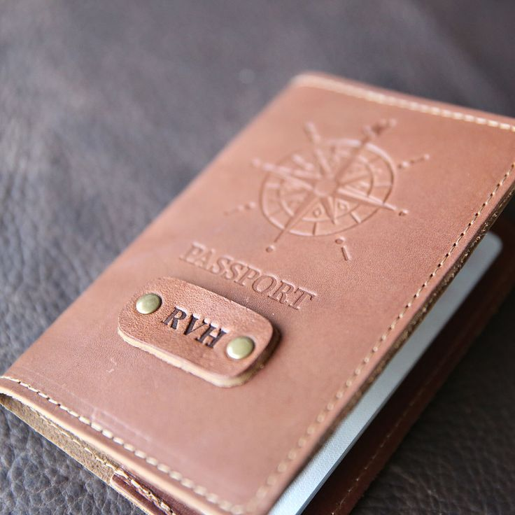 The Expedition Personalized Leather Passport Cover Holder Compass Passport Travel by HoltzLeather on Etsy https://www.etsy.com/listing/253104675/the-expedition-personalized-leather
