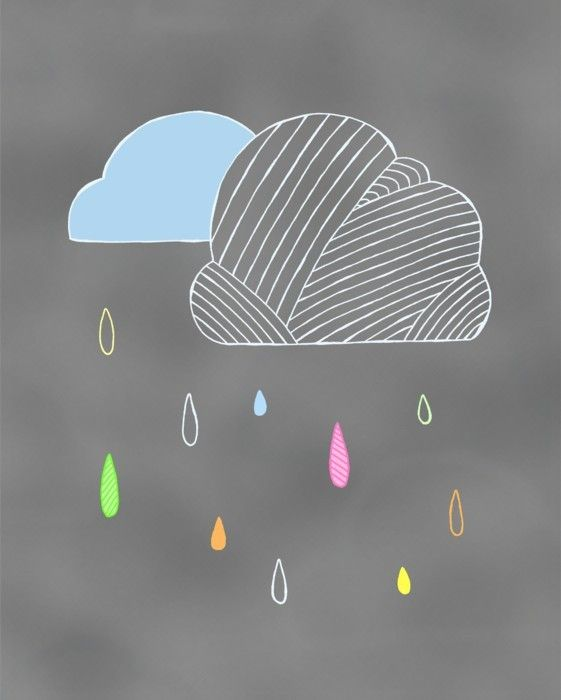 Rain Clouds Storm  8x10 Art Print on Recycled by PocketCarnival