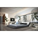 $1,715.00 VIG Furniture - Marquee Contemporary Leather Platform Bed with LED Lights - VGKCMARQUEE