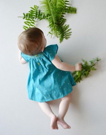 Robe oiseau qui picore #SS15 #kidsfashion #robe #enfant #baby #bio #organic #fairtrade #equitable