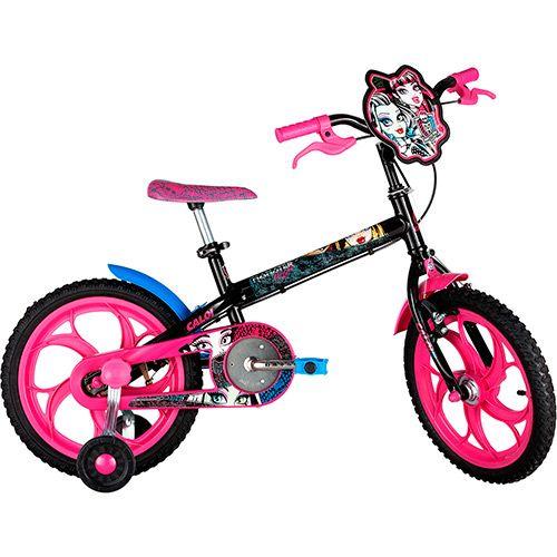 Americanas Bicicleta Caloi Monster High T10R16V1 Aro 16 Preta - R$242,92