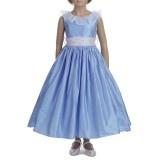 Exclusive 'Ready-To-Wear' Blue Silk Dress (Mirabelle)