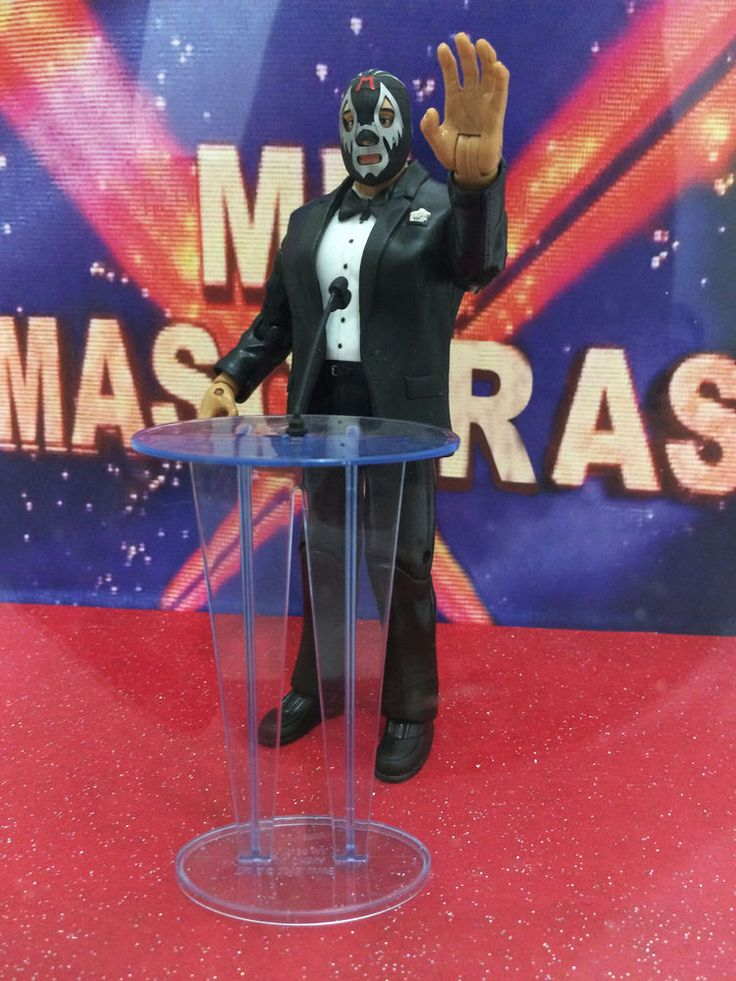 MIL MASCARAS HOF 2012 custom figure WWE TNA NJPW Wrestling Hall Of Fame Mattel
