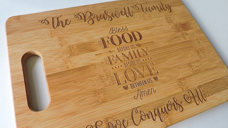 Bless the food, bless the family, Carving Board Bamboo Cutting Board Large 13.75' x 9.75' *** Check out the image by visiting the link.