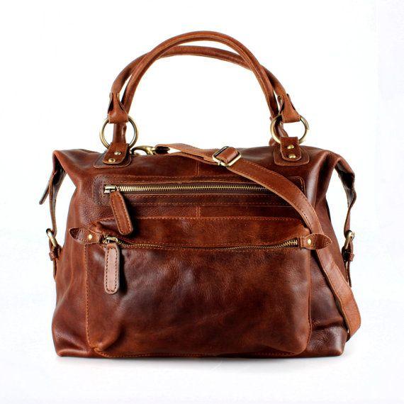 Sac à main sac en cuir marron par TheLeatherStore sur Etsy