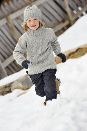 1011: Modell 22B Genser og lue #strikk #knit #fjells