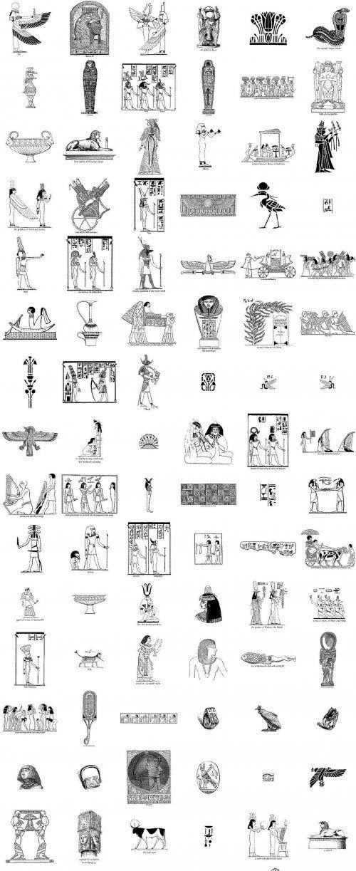 egyptian designs   Ancient Egyptian designs and motifs in EPS format   LordofDesign.com ... Egypt