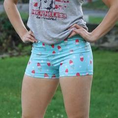 WOMEN'S - Firecracker | Red, White & Blue Shorts – Beast Worx