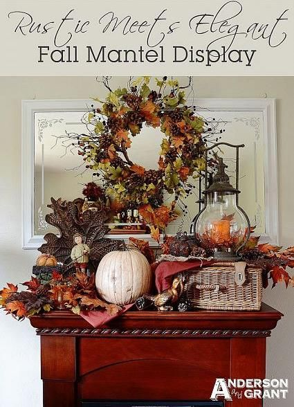 Mixing Styles to Create an Interesting Fall Mantel Display