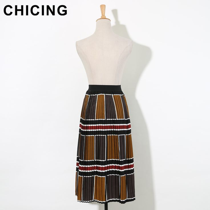 Retro Color Blocks Print High Waist Pleated Long Chiffon Skirt Only $27.99 => Save up to 60% and Free Shipping => Order Now! #Skirt outfits #Skirt steak #Skirt pattern #Skirt diy #skater Skirt #midi Skirt #tulle Skirt #maxi Skirt #pencil Skirt