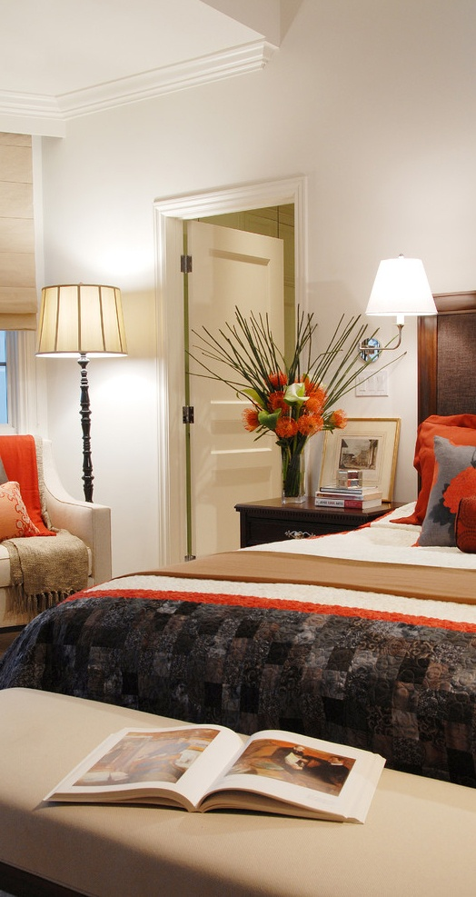 Pop Of Orange Bedroom Design, Pictures, Remodel, Decor And Ideas   Page 24