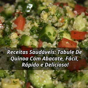 Receitas Saudáveis: Tabule De Quinoa Com Abacate, Fácil, Rápido e Delicioso!   ➡️ https://segredodefinicaomuscular.com/receitas-saudaveis-tabule-de-quinoa-com-abacate-facil-rapido-e-delicioso/  Se gostar da receita compartilhe com seus amigos :)  #quinoa #tabule #receitasfit #receitas #recipes  #fit #receitafit #AlimentaçãoSaudável #EstiloDeVidaFitness #ComoDefinirCorpo #SegredoDefiniçãoMuscular