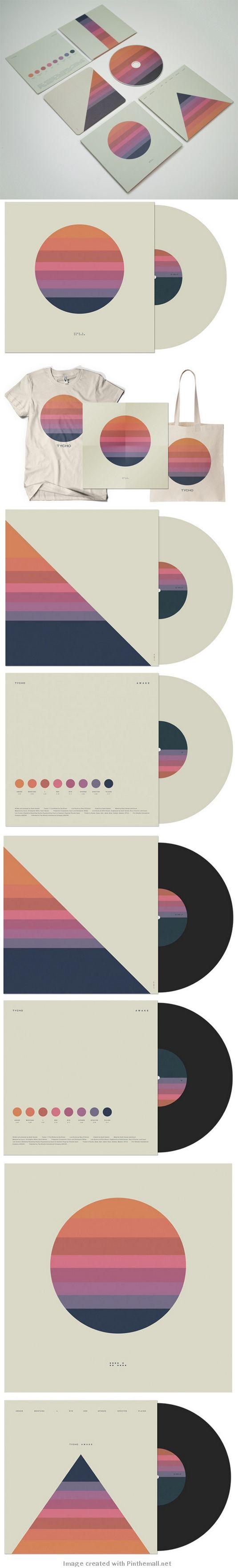 Déclinaisons des rayures sous plusieurs formes | Tycho Awake | Scott Hansen, Graphic Designer and Musician
