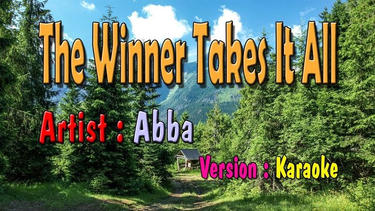 The Winner Takes It All  Karaoke | Abba