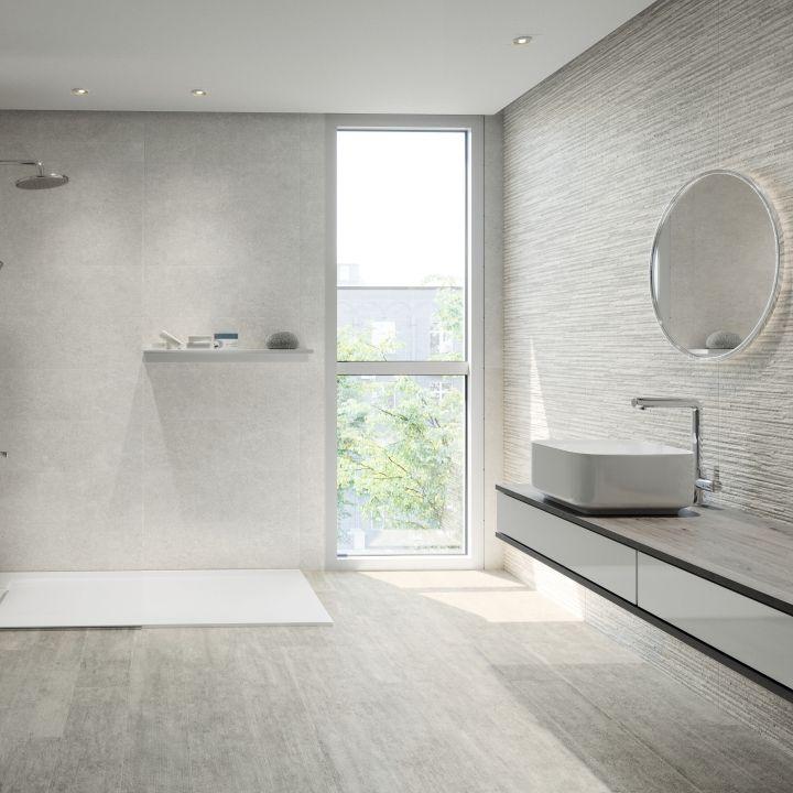 Volta Snow Large White Wall Tiles White Bathroom Tiles Modern