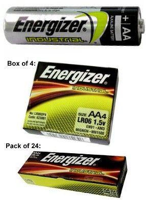 "Energizer Batteries EN91 AA Size Industrial Alkaline Battery - Made in USA ""2023"" Date from $0.35 - $0.30  www.batteriesandbutter.com"