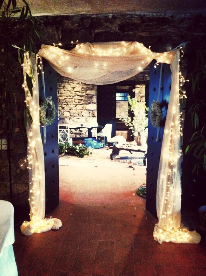 Entrance , baby's breath and fairy lights!!!
