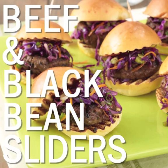 Beef and Black Bean Sliders are so simple and delicious, you'll want to make them every night!