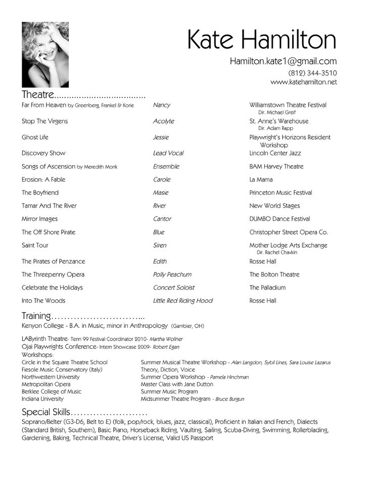 25+ trending Simple resume format ideas on Pinterest Best cv - theatre resume examples