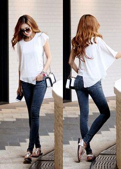 SD-TP063 Asymmetric dressy chiffon blouse