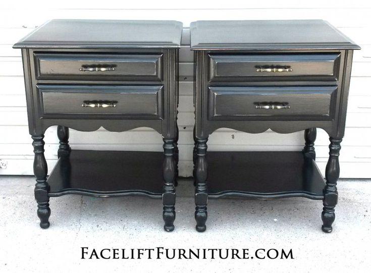 Nightstands Painted Glazed Distressed Furniture Refinishingfurniture Makeoverbedroom
