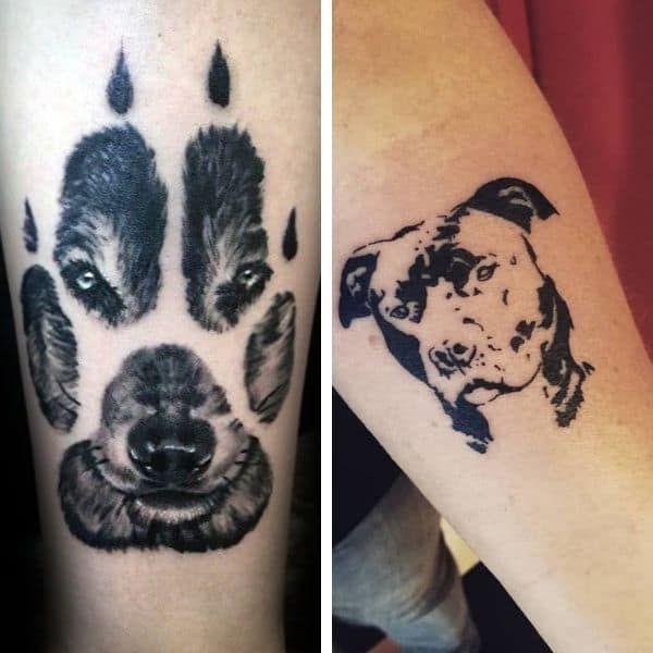101 Best Dog Tattoo Ideas That Show Your Dog Love Fidose Of Reality Dog Tattoos Dog Tattoo Pawprint Tattoo