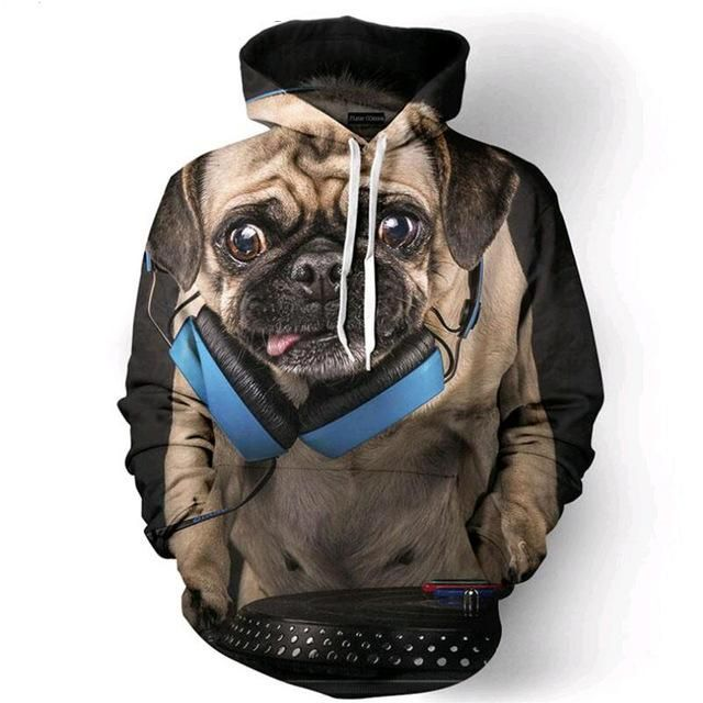 Expression Tees Dabbing Pug with Sunglasses Youth-Sized Hoodie