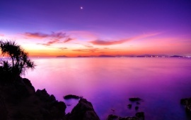 Sunset Moon at Sea HD & Widescreen Nature & Landscape Wallpaper from the above resolutions. If you don't find the exact resolution you are looking for, then go for 'Original' or higher resolution which may fits perfect to your desktop.