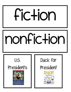 Fiction and Nonfiction book cover sort. Printable and free.