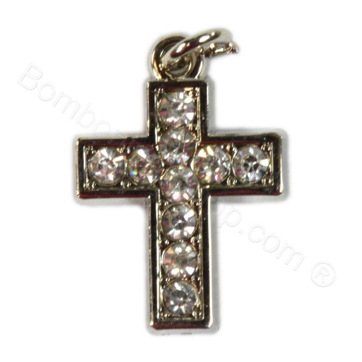 Ciondolo Croce con strass