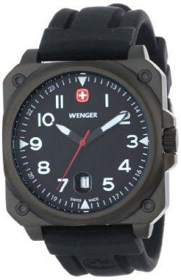 Relógio Wenger Men's 72424 AeroGraph Cockpit Black PVD Rubber Strap Watch #Relógio #Wenger