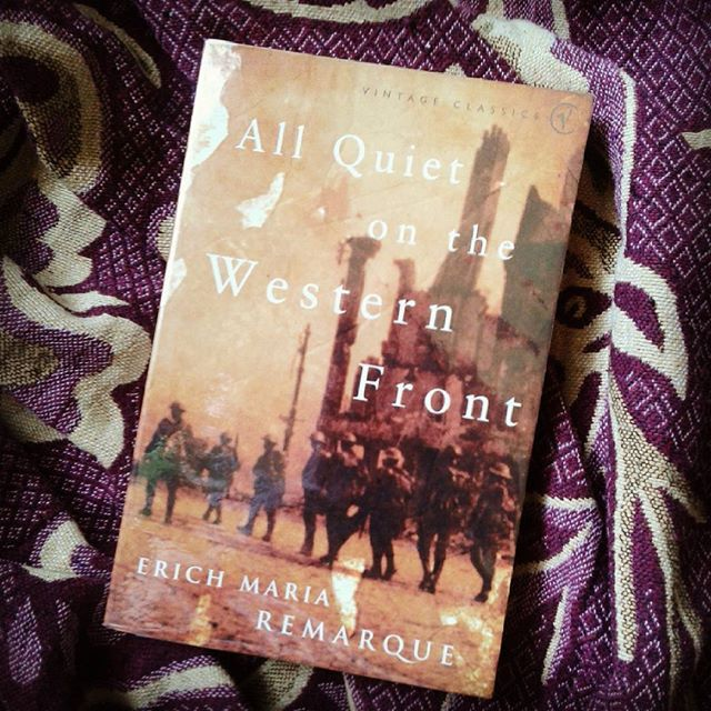 One of the best war novels ever! #ww1 #worldwar1 #germany #thegreatwar #front #westernfront #allquiteonthewesternfront #books #booknerd #bookstagram #book #bookphotography #photography #photo #library #personallibrary #erichmariaremarque #classicnovel #classicnovels #history #youth