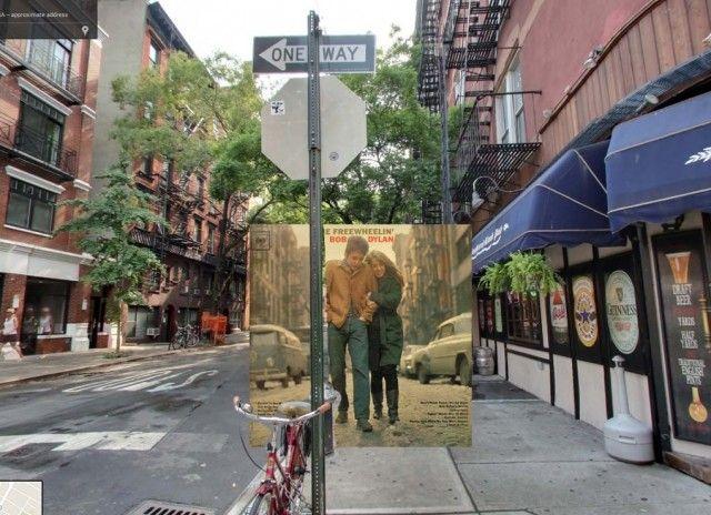 Classic Album Covers in Google Street