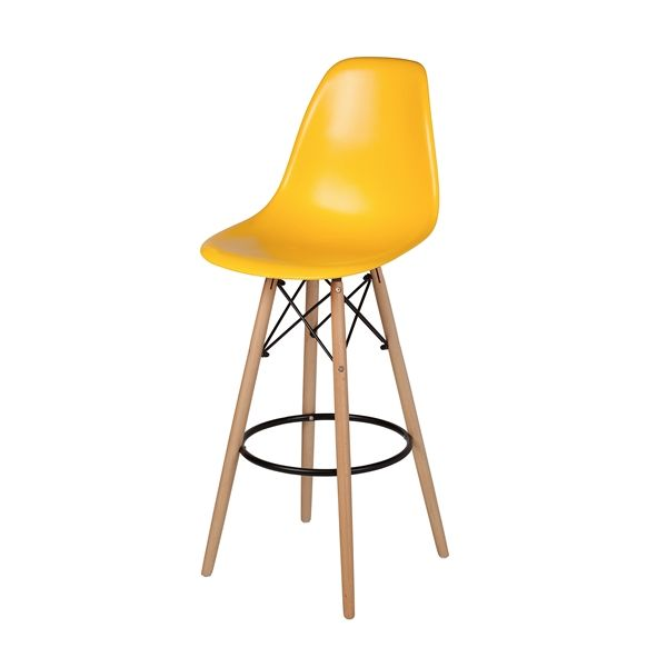 Charles Eames Dsw Bar Stool In Yellow The Khazana Home Austin