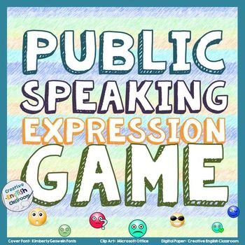 If your students struggle with monotone voices and expressionless faces, try having them read different quotes with different emotions.  This game actually includes a wide variety of quotes and emotions that students can practice with in a fun and lighthearted way!