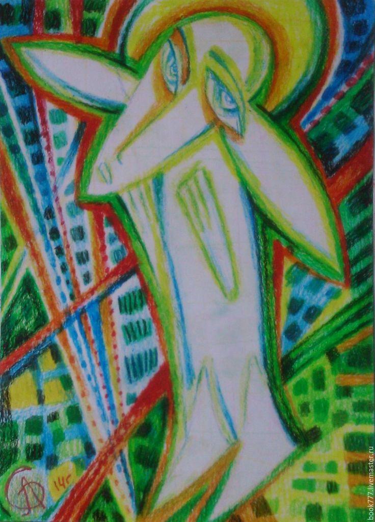 Купить Несите ангелов домой - ярко-зелёный, картина в подарок, картина, Картины…