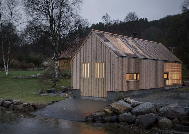 due to the declining fishing industry, this boathouse has been adapted into an intimate space for gathering and socializing.