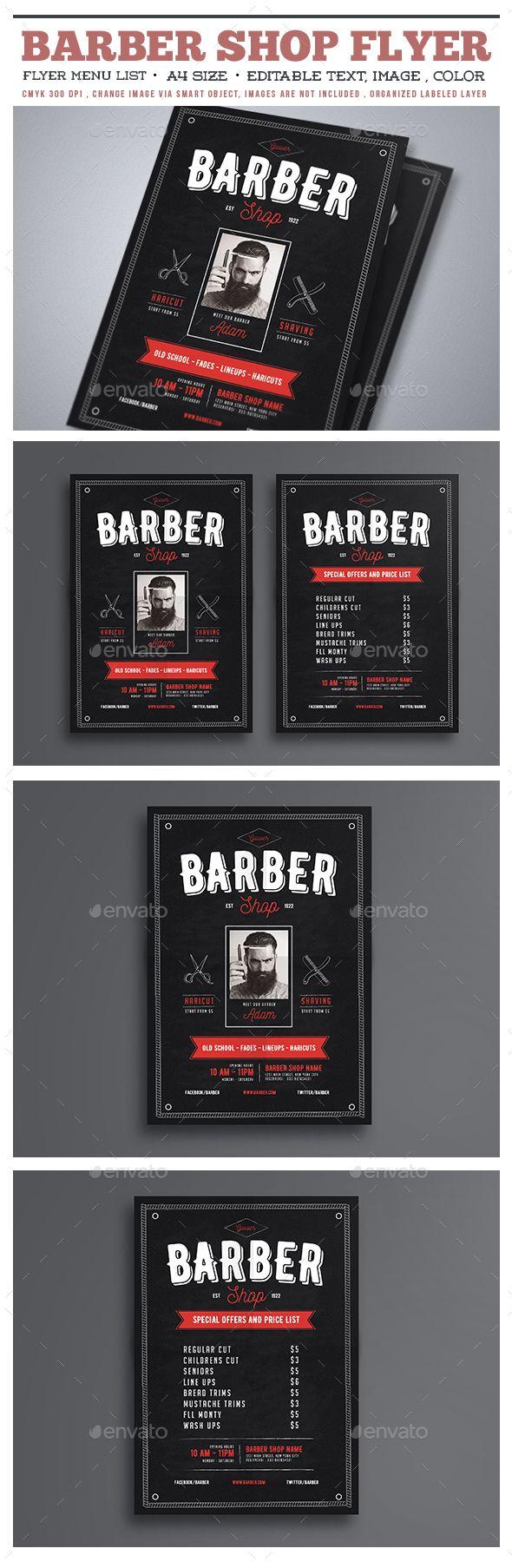 Barber Shop Flyer - Commerce Flyers                                                                                                                                                      More