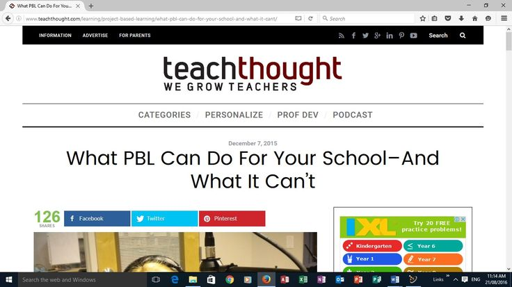 """Working from the previous webpage and its myriad examples and links, is this webpage which I feel is useful as """"implementing PBL to improve the culture if teaching"""" talks of a growth mindset which is particularly relevant to my school as we explore Stephen Covey's 7 habits of highly effective people. It has printable worksheets and looks at examples of asking questions which I feel is a major hurdle for teachers and students alike ... see more at http://stephencrockerskfl.blogspot.com.au/"""