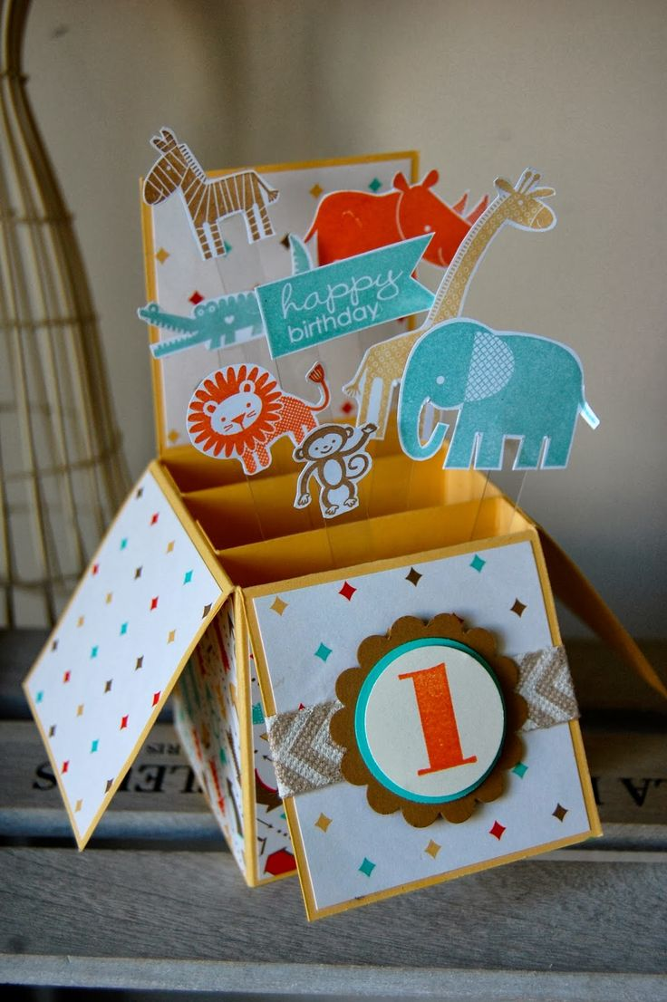 Julie's Japes - A Top UK Independent Stampin' Up! Demonstrator : Baby Card in a Box!