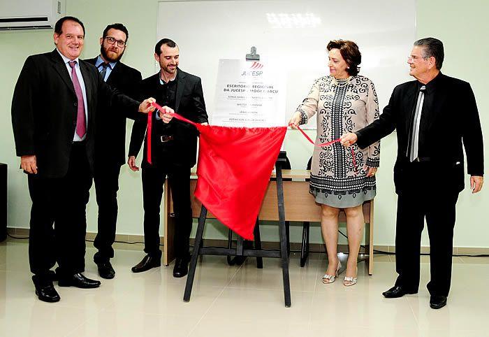 Foram inauguradas, as novas instalações do Escritório Regional da JUCESP na sede da Associação Comercial e Industrial de Mogi Guaçu