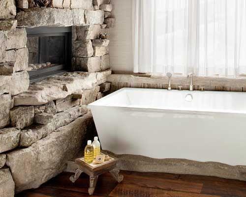 интерьер коттеджа ванная