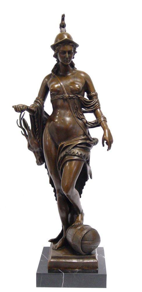 Bronzeskulptur Bavaria Bayern München Antik-Stil Bronze Figur Statue 70cm
