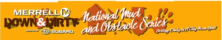 Merrell Down & Dirty National Mud and Obstacle Series presented by Subaru logo