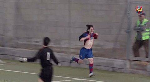 New party member! Tags: goal fc barcelona messi gol old school leo messi long hair dont care fcbmasia fcbgif young messi