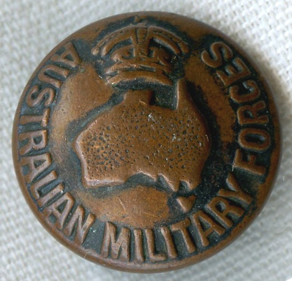 World War I Australian Military Forces Uniform Button In