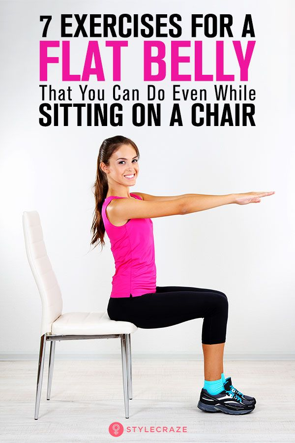 How To Get A Flat Stomach While Sitting Down