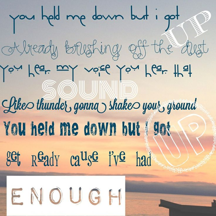 This is going to be my theme song for the year......I feel so much better because so much anger has left me now...this is one of my favorite parts of this song!
