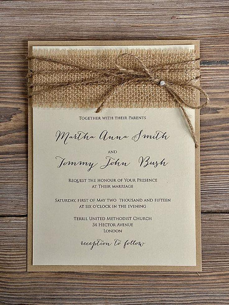 rustic wedding invitation 10
