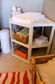 I want this corner changing table whenever we have a baby! Saves sooo much space!